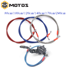 ZS MOTOS 800 To 1400mm Dirt Bike Braided Steel Hydraulic Reinforce Brake line Clutch Oil Hose Tube Universal Fit Racing MX
