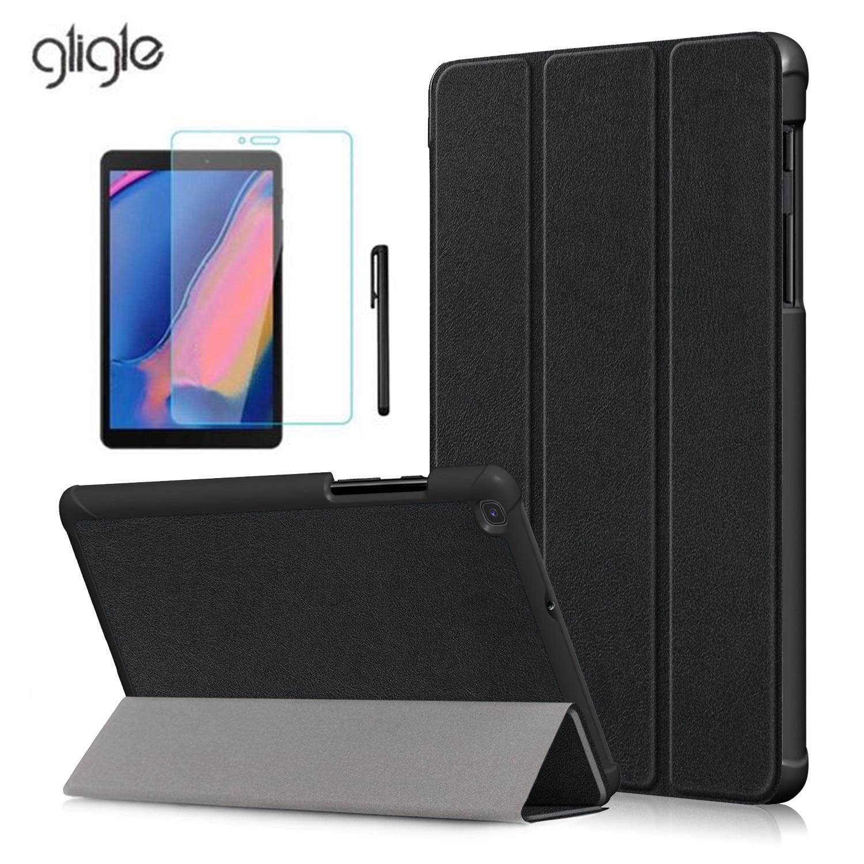 Ультратонкий кожаный чехол Gligle для Samsung Galaxy Tab A 8,0, 2019, чехол для планшета с подставкой, защитная пленка, сенсорное перо