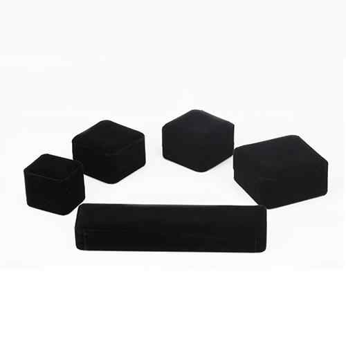 Black Velvet Ring Watch Necklace Bracelet Bangle Pendants Jewelry Case Gift Box for Valentine Christmas Drop shipping New