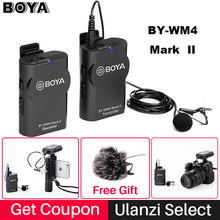 BY-WM4 Wireless Microphone System Lavalier Lapel Mic for iPhone Canon Nikon Sony DSLR Camera Camcorder Recorder Tablet PC