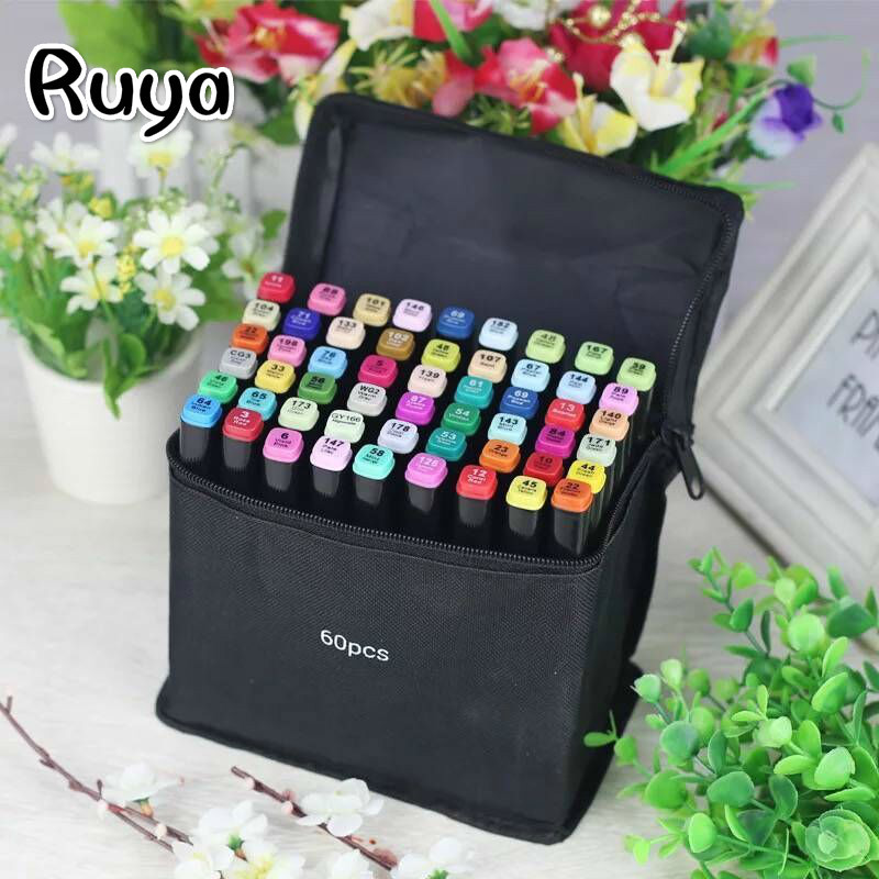 Professional Art Set Markers Highlighters Stabilo Mildliner Marcadores Pens Pencils Writing Supplies Copic Colores Manga Drawing