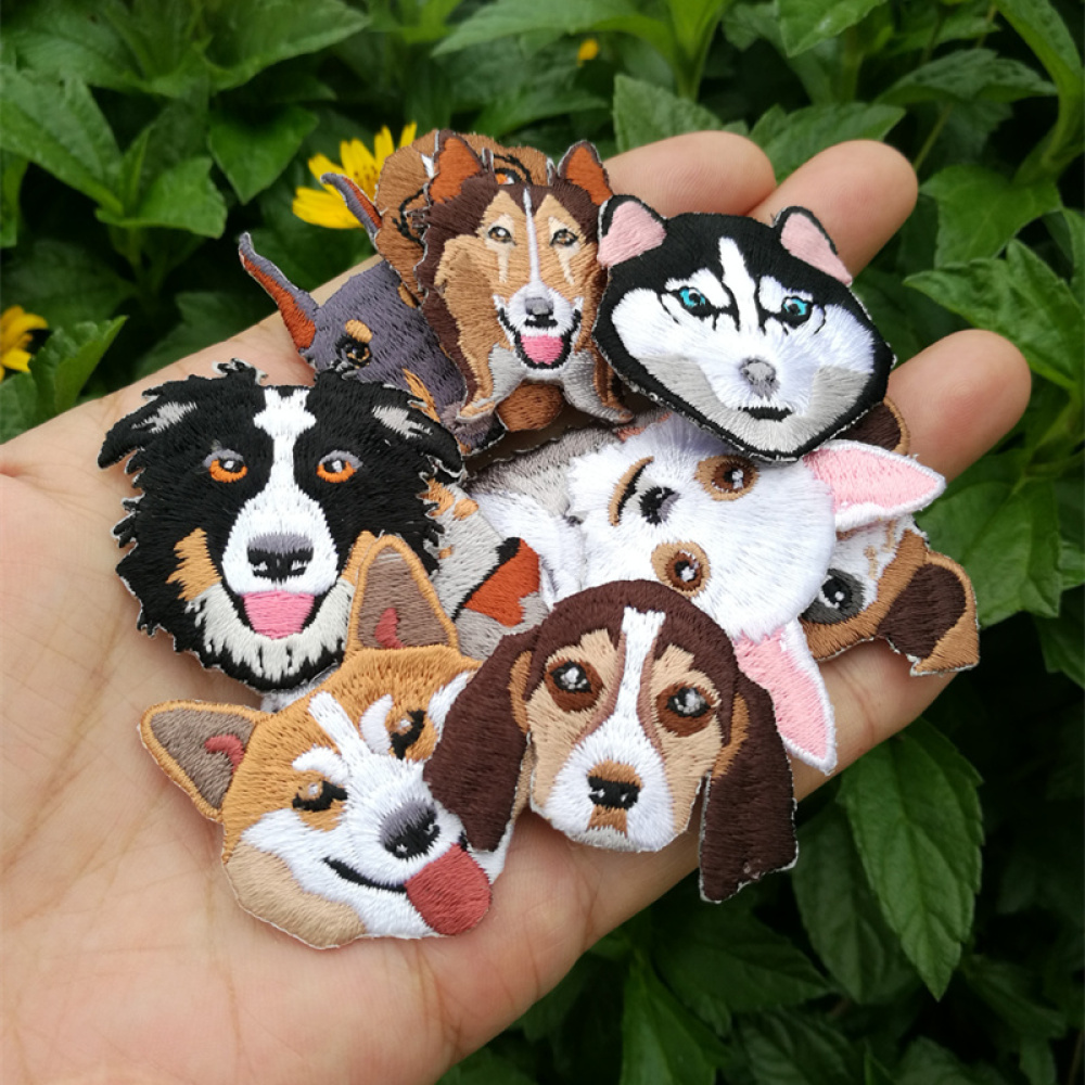 Cartoon Dog Embroidery Patch Cloth Accessories Cartoon Children's Dress Bag Shoes Hat Decoration Stickers