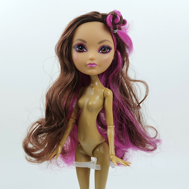 Purple Brown Curls Hair Doll Head for Monster High Doll Heads for Demon Monster Doll House DIY Toys for Children Accessories
