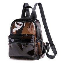 Clear Transparent Women Backpack Waterproof Book Female Coll