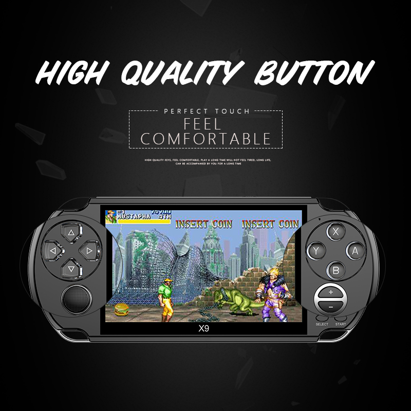 New Arrival 5.0 Inch Large Screen Handheld Game Player Support TV Out Put With MP3/Movie Camera Multimedia Video Game Console