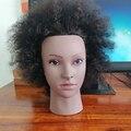 Manequim manequim manequim cabeça da boneca para o estilo de cabelo trança afro manequim cabeça com cabelo humano real cabeleireiro treinamento cabeças
