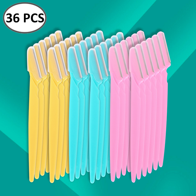 36Pcs Eyebrow Trimmer Women Face Razor Leg Body Epilator Brow Knife Facial Remover Shaver Makeup Facial Hair Removal Blades Kit 1