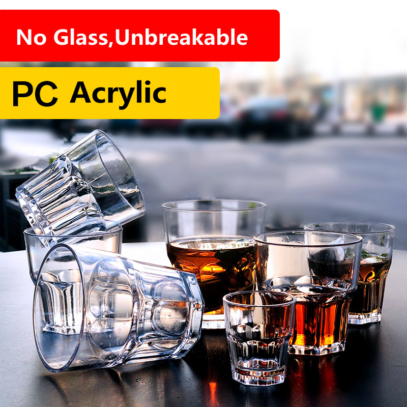 Unbreakable Clear Beverage Drink Glass Tumbler Beer Glass Water Cup Acrylic