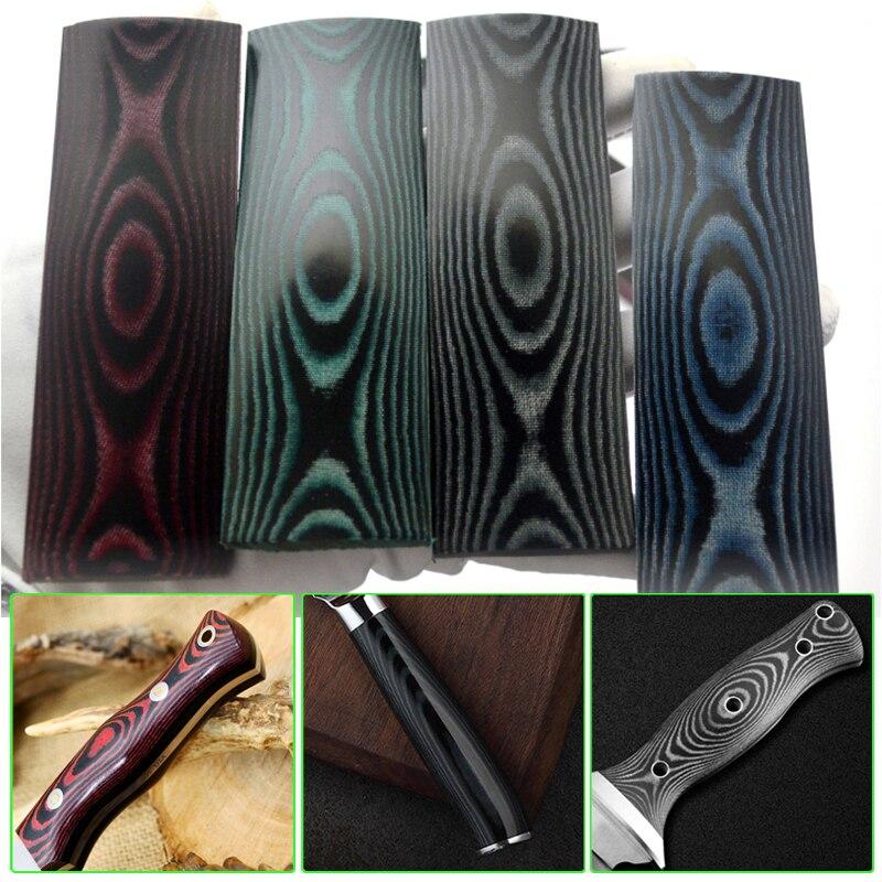 Cuchillo compuesto Personalizado Negro Verde Material Mango escalas en blanco 53