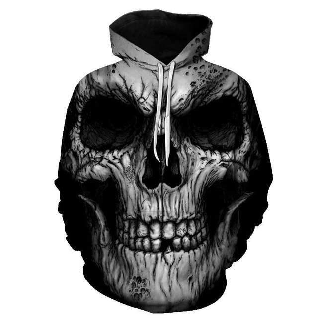 3D SKULL THEMED HOODIE (20 VARIAN)