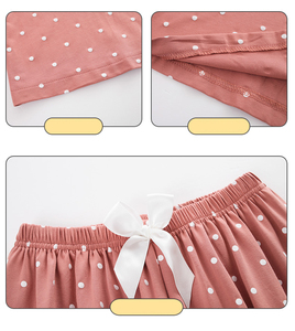 Image 3 - Bzel新ファッションパジャマの女性の綿のかわいいパジャマ女の子長袖トップス + パンツポケットポルカドットカジュアルラウンジ着用