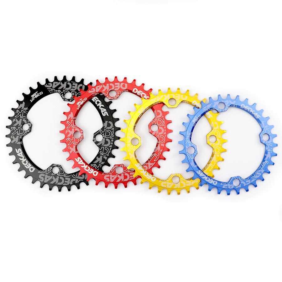 Deckas 104BCD مستديرة ضيقة واسعة سلسلة الدراجة الجبلية MTB دراجة 104BCD 32T 34T 36T 38T cranset الأسنان قطع غيار الصفيحة 104 BCD