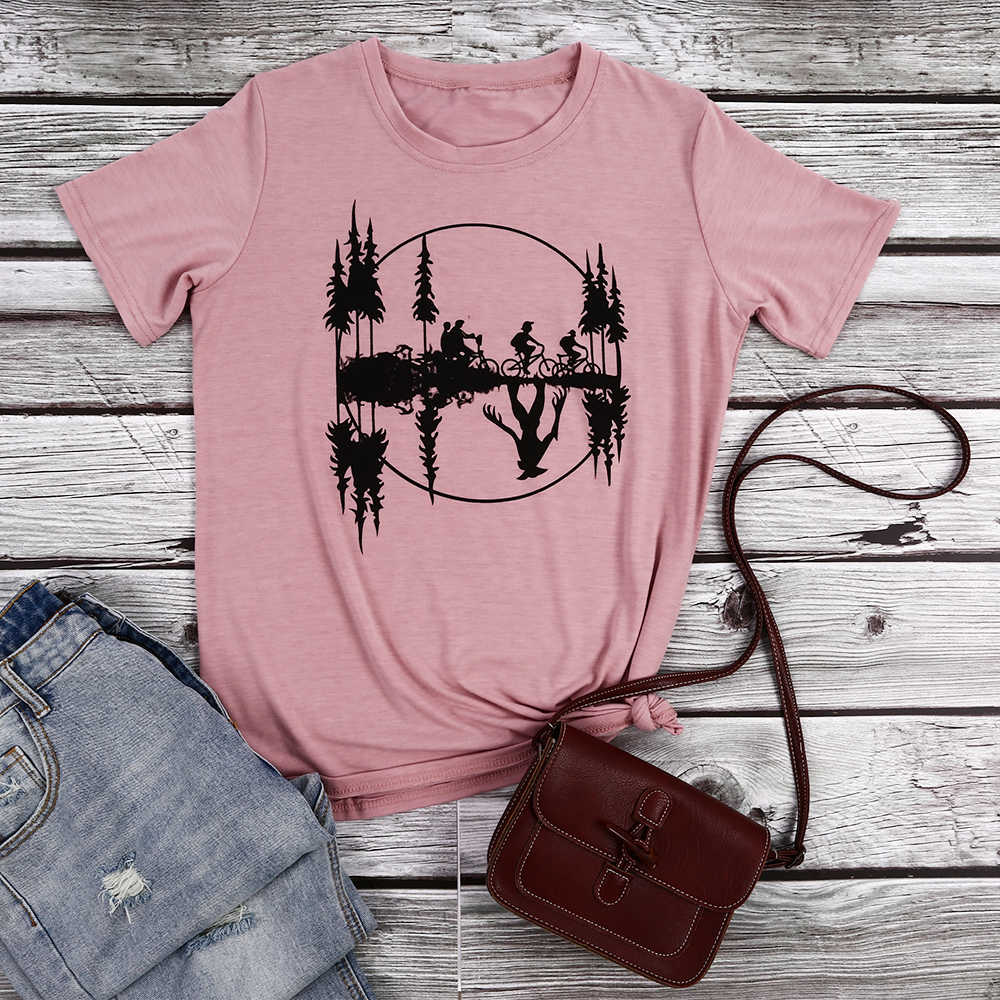 Mode T-shirt femmes imprimé hauts T-shirt été décontracté col rond T-shirt femme rose jaune vert T-shirt hauts amples