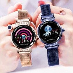 H2 스마트 시계 여성 남성 피트니스 트래커 스마트 팔찌 방수 심박수 모니터링 스포츠 블루투스 시계 안드로이드 IOS