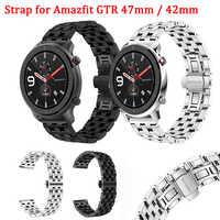 Für Huami Amazfit GTR 47mm Klassische Schmetterling Schnalle Metall Armband Keine Notwendigkeit Werkzeug Ersatz Armband Für Amazfit GTR 42mm Band
