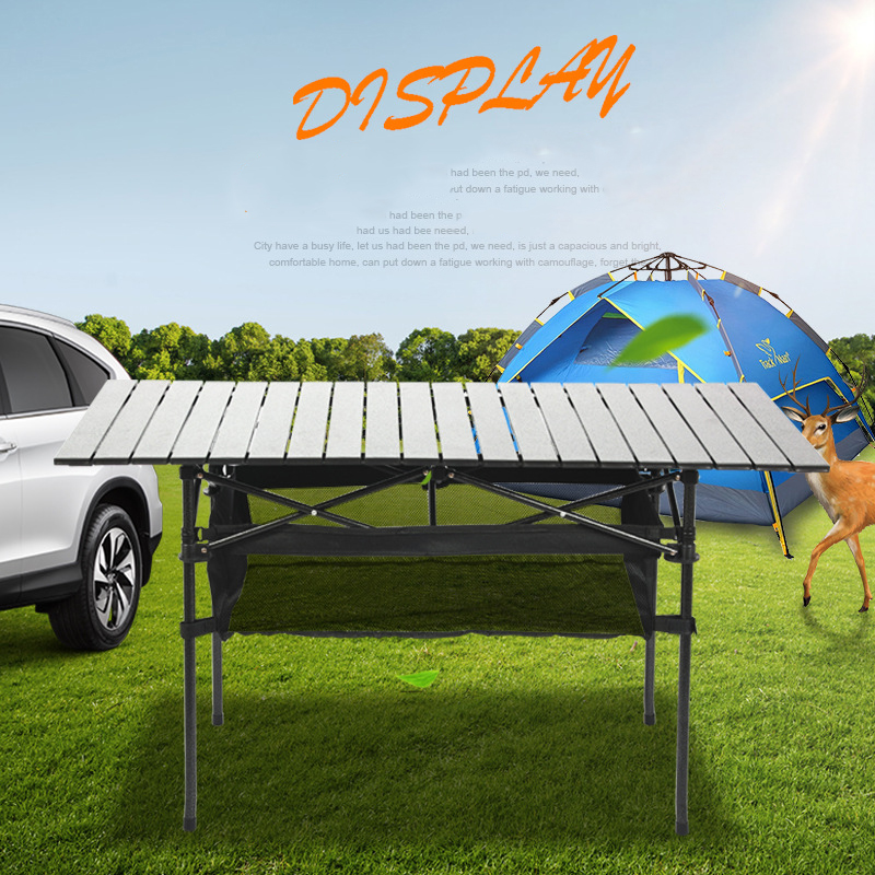 120x55x68cm Outdoor Table Foldable Portable Camping Square Folding Table Large Bbq Aluminum Table Aluminum Alloy Durable Table