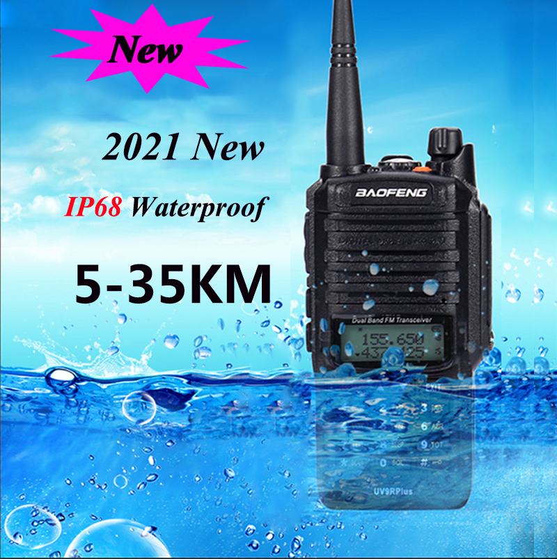 2021 Baofeng UV 9R plus Upgrade uv9r 40 км 50км рация 10 Вт hf трансивер vhf uhf ham Радио дальний радиус действия CB радиостанция