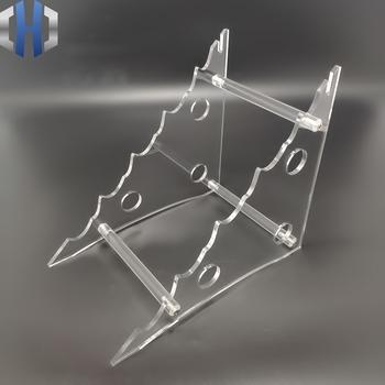 Nowy Design akrylowy nóż stojak pleksi nóż patera uchwyt noża EDC tanie i dobre opinie UPEDC Woodworking CN (pochodzenie) STAINLESS STEEL stop tytanu Knife Display Stand Nóż ze składanym ostrzem