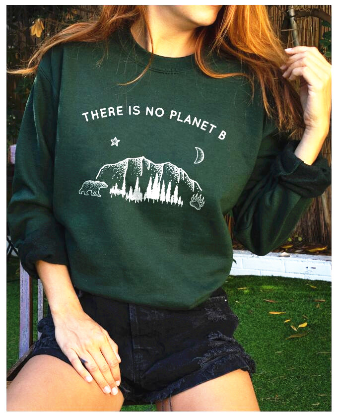 Long-sleeved Sweater There Is No Planet B [& Star] Lettered Casual Tops Speed Sell