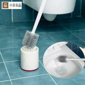 XIAOMI YJ pionowa szczotka do toalety miękki klej szczeciny szczotka do szorowania wc czysty uchwyt szczotka narożna toaleta wc narzędzie