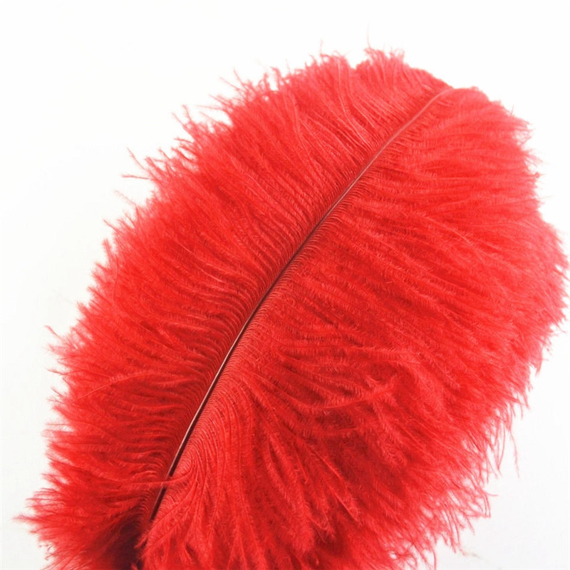 Wholasale Red Ostrich Feathers for Crafts 15-70cm 6-28\