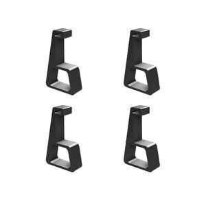 Image 1 - 4 adet oyun ana bilgisayar braketi soğutma yatay versiyon braketi PS4 Slim Pro oyun makinesi taban düz monte braketi aksesuarları