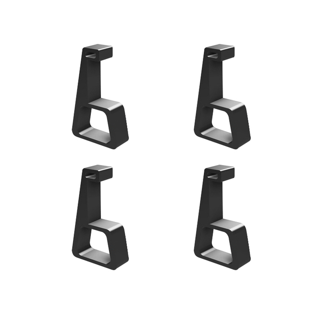 4 adet oyun ana bilgisayar braketi soğutma yatay versiyon braketi PS4 Slim Pro oyun makinesi taban düz monte braketi aksesuarları