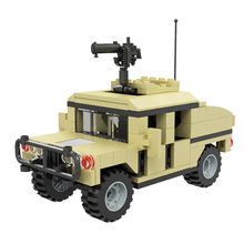 Military series Wheeled reconnaissance armored vehicle DIY model Building Blocks Bricks Toys Gifts(China)