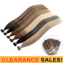 MRSHAIR I накладные человеческие волосы Омбре предварительно скрепленные прямые волосы 100% натуральная машина Remy волосы echthaar наращивание 50 см
