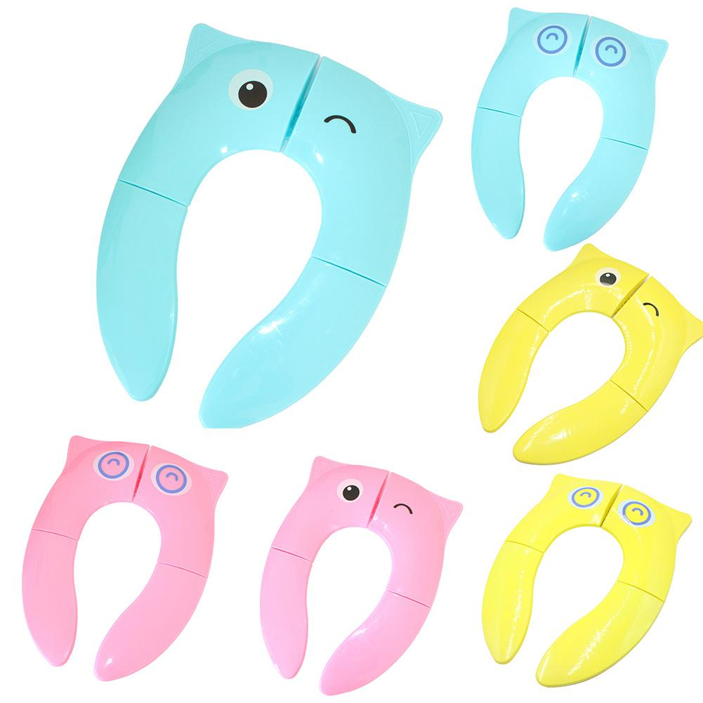 Kids Cute Owl Folding Portable Baby Potty Seat Cover Toilet Training Urinal Cushion