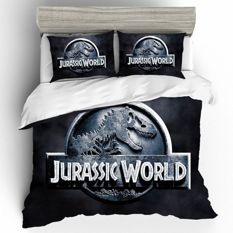 Jurassic Park Printed Sheets For Bed Duvet Cover Bedclothes Movie Bedspreads For Bed Microfiber Fabric Bedlinen Movie Dinosaur