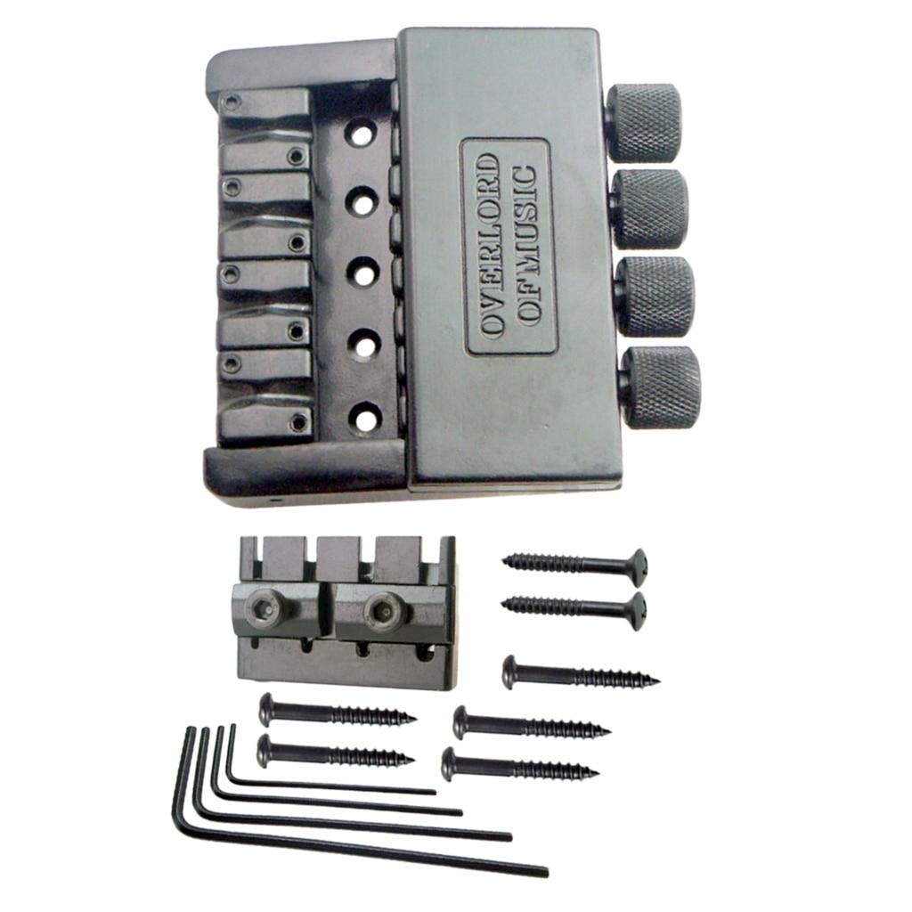4 cordes guitare électrique HardTail pont selle noir haut charge cordier ensemble avec clé et vis