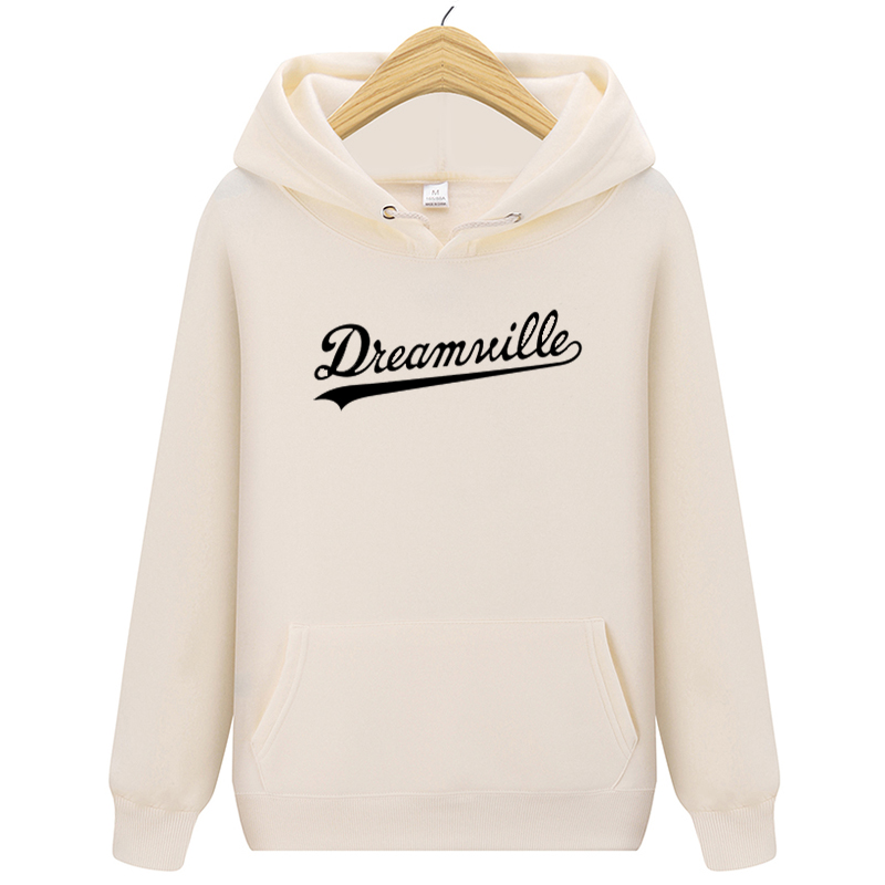Fashion New Hoodies Men Hip Hop DREAMVILLE J Cole Logo Hooded Swag Letter Fleece J Cole Hoodie Winter Hoodies Men Pullove