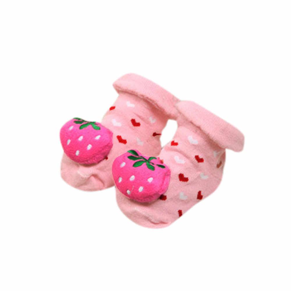 Bebê Recém-nascido Meninas Meninos dos desenhos animados Anti-Slip meias Chinelo Calçados Botas infantis носки детские puericulture calze H5 antiscivolo
