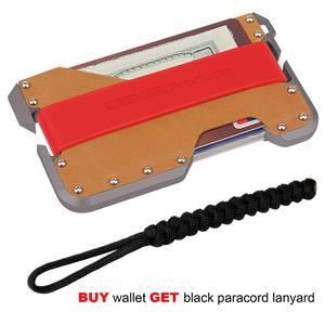 Image 5 - ZEEKER ใหม่อลูมิเนียม RFID การปิดกั้นบัตรเครดิตหนังแท้ Minimalist กระเป๋าสตางค์โลหะสีเทาสำหรับ Men & Women