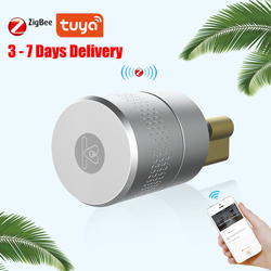 AIRBNK M500 Tuya Smart цилиндр дверного замка отпечатков пальцев Умный Замок Bluetooth, Zigbee Беспроводной дверной замок Smart Домашней Сети Управление