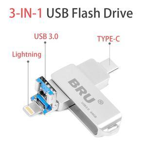 Image 2 - Cho Iphone Lightning Ios OTG Đèn Thẻ Nhớ Loại C Pendrive USB Loại C Flash 16GB 32GB 64GB Bút Usb3.0