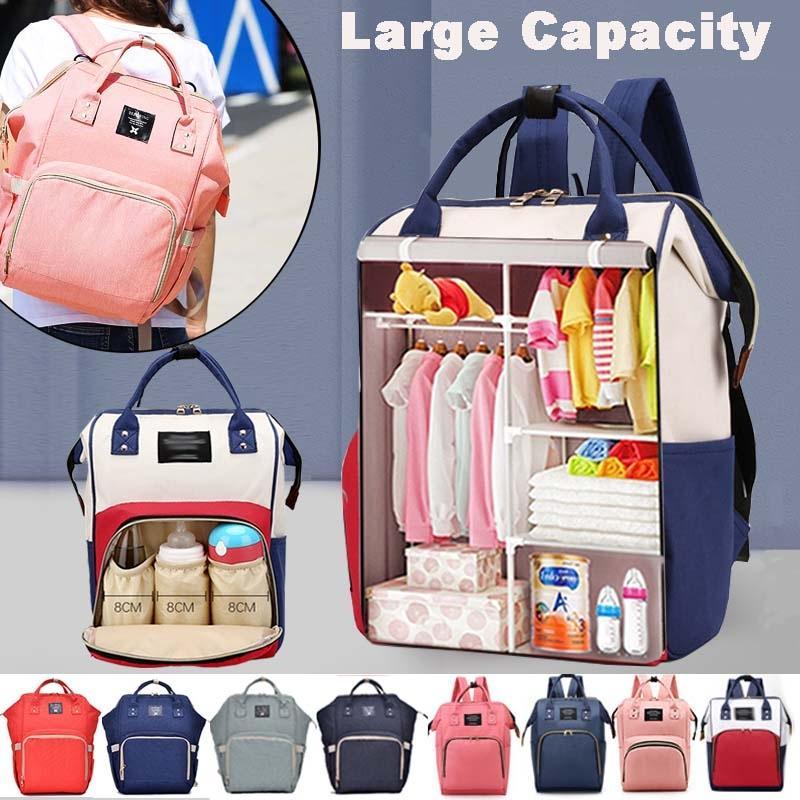 Large Capacity Mummy Bag Maternity Nappy Bag Travel Backpack Nursing Keep Warm Bag for Baby Care Women's Fashion Mommy Bag