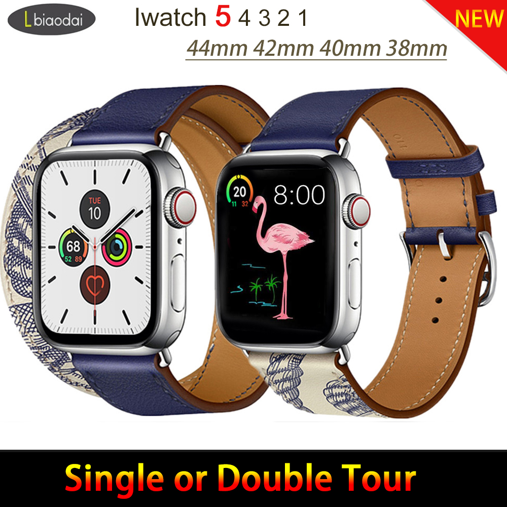 Leather Strap For Apple Watch Band Iwatch Band Pulseira Apple Watch 5 4 3 2 Strap 44mm 40mm 42mm 38mm Correa Watchbands Bracelet