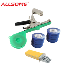 ALLSOME Tying Machine Plant Garden Plant Tapetool Tapener +10 Rolls Tape Set for Vegetable Grape Tomato Cucumber Pepper Flower