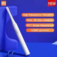 Xiaomi-cepillo de dientes eléctrico Mijia T100, original, recargable por USB, IPX7, impermeable, Ultra sónico, automático, para adultos