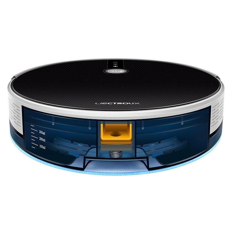 LIECTROUX C30B Robot Vacuum Cleaner AI Map Route,Memory,Super Smart Partition,WiFi App,6000Pa Suction,Electric WaterTank,Wet Mop 5