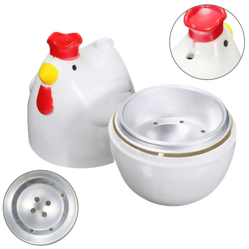XMX-Chick-shaped 1 Boiled Egg Steamer Steamer Pestle Microwave Egg Cooker Cooking Tools Kitchen Gadgets Accessories Tools