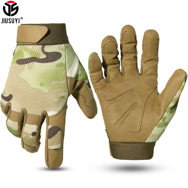 Multicam Tactical Gloves Fishing Army Military Bicycle Airsoft Motorcycle Shoot Paintball Work Gear Camo Full Finger Men Women 1