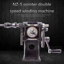 цена на NZ-5 Manual Coil Winding Machine Toroidal Motor Hand Crank Electronic Count Two Speed Winding Machine 220V Stranding Cast Iron