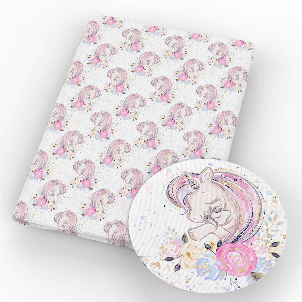 David angie 20*20cm unicornio poliéster y tela de algodón para coser cojín ropa tejido textil, c9401