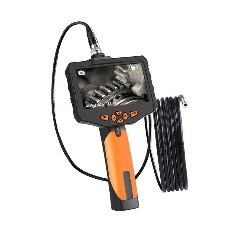 4.5 Inch Industrial Endoscope Borescope 5.5mm Mini Lens Auto Focus Inspection Camera With 3M Semi-Rigid Tube LED Light