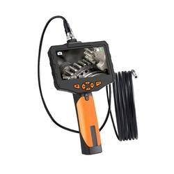 4,5 pulgadas endoscopio Industrial boroscopio 5,5mm Mini lente Auto Focus cámara de inspección con tubo semirrígido 3M luz LED