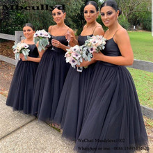 Mbcullyd Puffy Tulle Bridesmaid Dresses Long 2020 African We