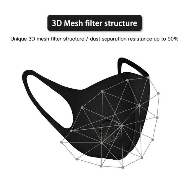 Dust mask PM2.5 with mesh filter outdoor multi-layer anti-pollution anti-fog haze anti-bad breath mountain bike riding mask 2